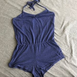 Soft blue romper